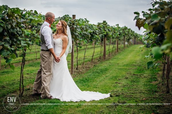 """""""Lindsey and Nate were married this weekend at the Indian Bear Winery in Walhonding, Ohio!"""" --<i>Rebecca Cook</i>"""