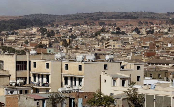 A general view shows a section of the skyline in Eritrea's capital Asmara, February 20, 2016.