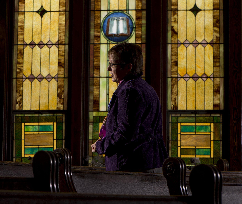 Rev. Cynthia Meyer stands among the pews at Edgerton United Methodist Church on Jan. 6, 2016 in Edgerton, Kan. (Shane Keyser/Kansas City Star/TNS via Getty Images)