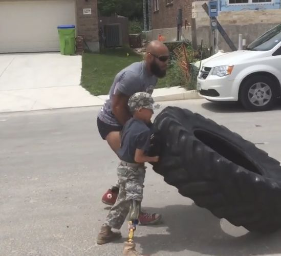 This 10-Year-Old Amputee's Savage Work-Out Proves Anyone Can Get