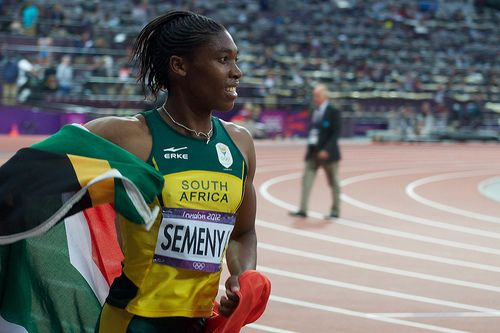 "Caster Semenya after winning silver at the 2012 London Olympics.<br>Image Credit: Jon Connell, <a href=""https://www.flickr.co"