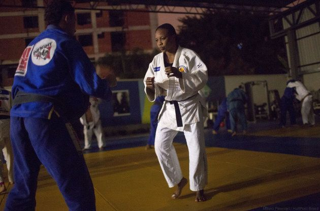 Yolande Mabika, a refugee from the Democratic Republic of Congo, discovered judo when she lived in a center for displaced chi