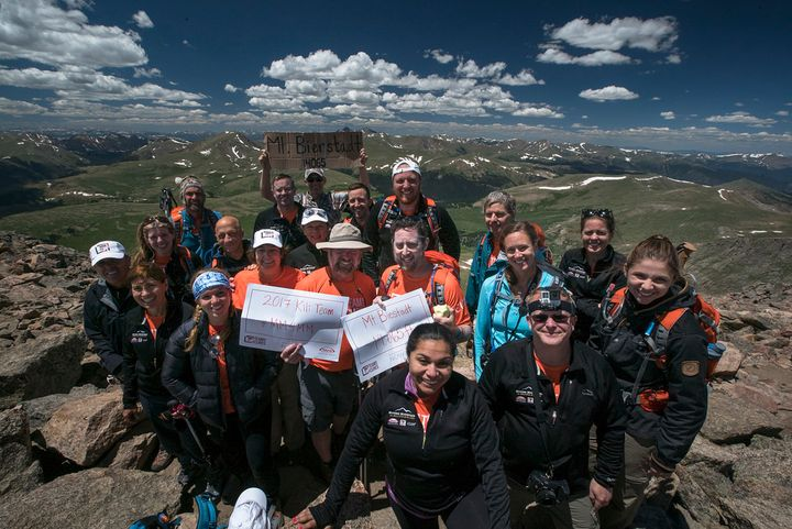 Multiple Myeloma Research Foundation 2017 Mt. Kilimanjaro team summits Mt. Bierstadt July 9th, 2016