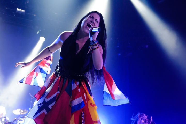 Amy Lee of Evanescence performs onstage at Wembley Arena on Nov. 9, 2012, in London, United Kingdom.