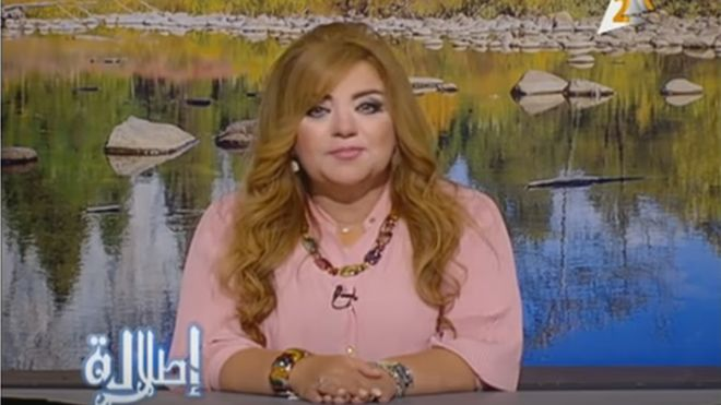 Egyptian newscaster Khadija Khattab is one of eight women suspended from their job for a month until they can lose weight.
