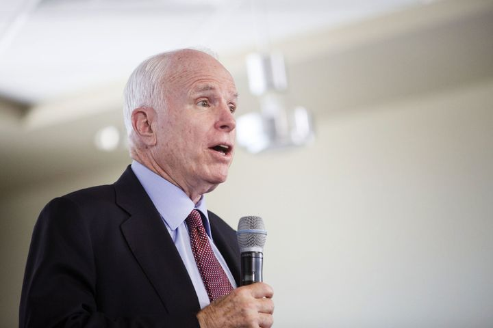 A super PAC supporting Sen. John McCain (R-Ariz.) is using material created by his campaign to boost his re-election chances.