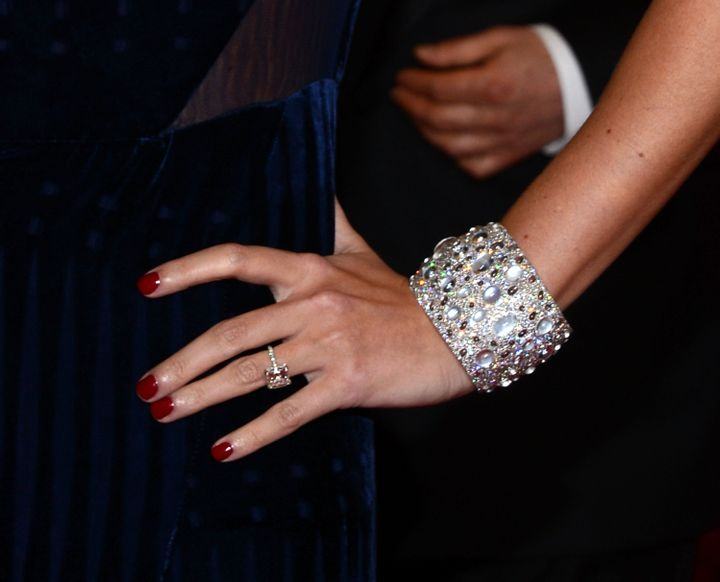 Trump's 5.22-carat sparkler certainly catches the eye.