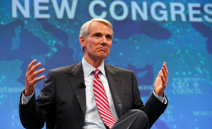 "U.S. Senator Rob Portman (R-OH) speaks during a session called ""The New Congress"" at the Wall Street Journal's CEO Council me"