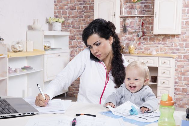 The financial penalty of having children has been called a 'motherhood wage penalty' (stock