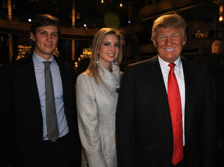 Ivanka Trump attends the2011 Comedy Central Roast of her father Donald Trump, along with husband Jared Kushner.