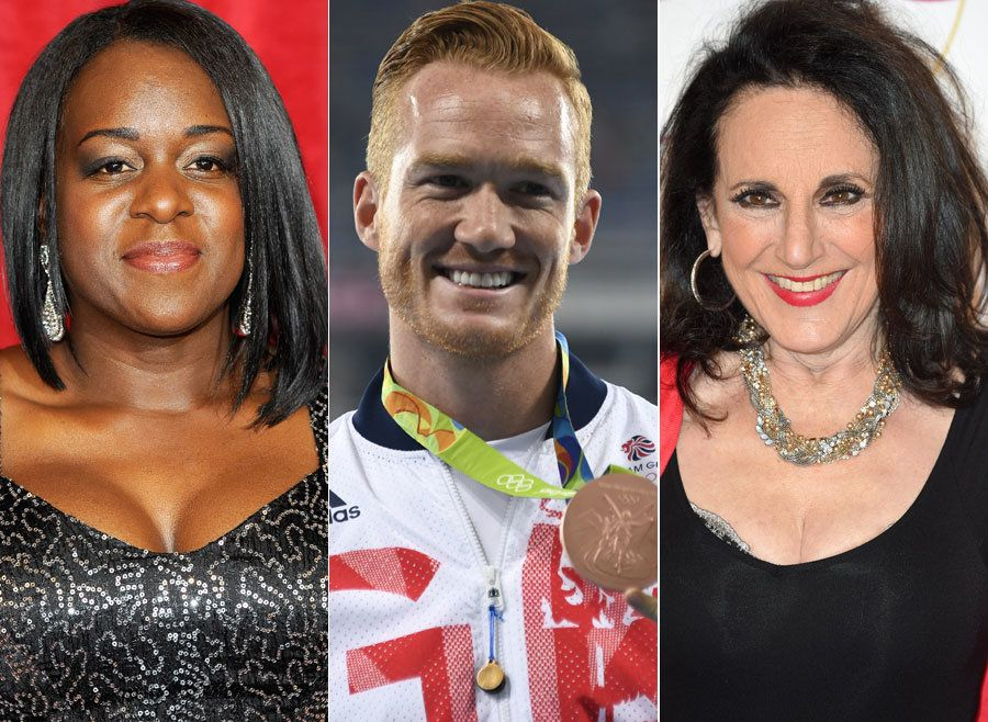 (L-R) Tameka Empson, Greg Rutherford and Leslie