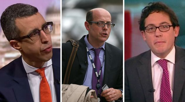 Three men fronting coverage of the gender pay gap on 'Today': Kamal Ahmed, Nick Robinson and Simon