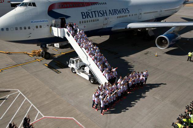 Team GB at Heathrow