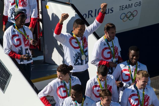Members of Team GB, including boxer Joe Joyce (rear left), pose for a