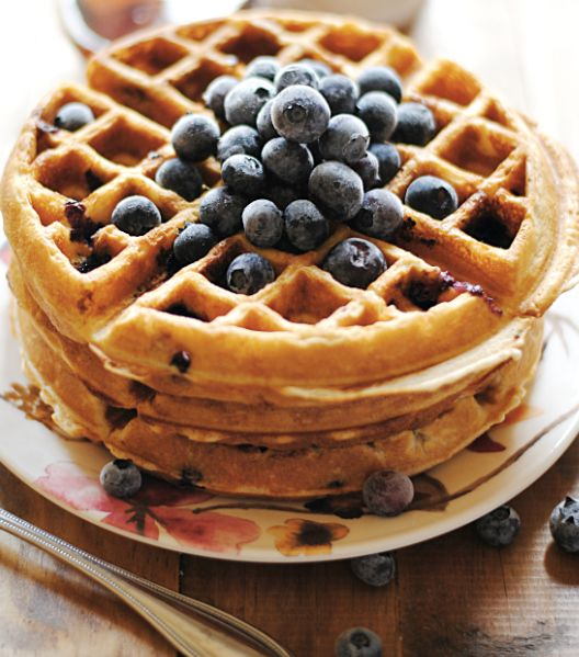 "<strong>Get the <a href=""http://www.somethingswanky.com/vanilla-bean-blueberry-waffles/"" target=""_blank"">Vanilla Bean and Blu"