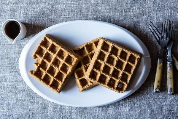 "<strong>Get the <a href=""http://food52.com/recipes/20210-spiced-stout-waffles"" target=""_blank"">Spiced Stout Waffles recipe</a"