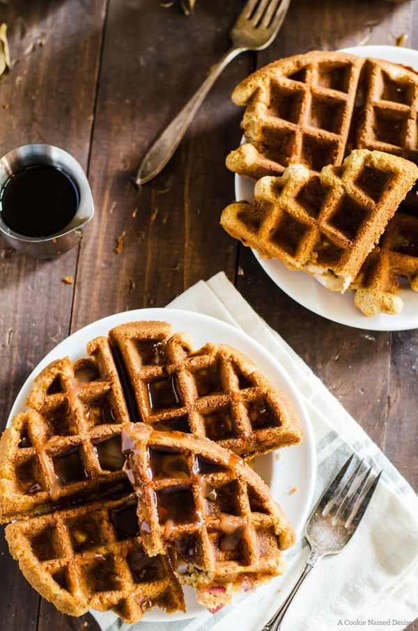 "<strong>Get the <a href=""http://cookienameddesire.com/banana-bread-waffles/"" target=""_blank"">Banana Bread Waffles recipe</a>&"