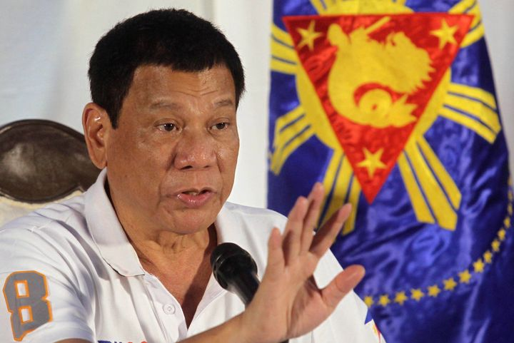 Philippine President Rodrigo Duterte speaks during a news conference in Davao city, southern Philippines August 21, 2016. Pic