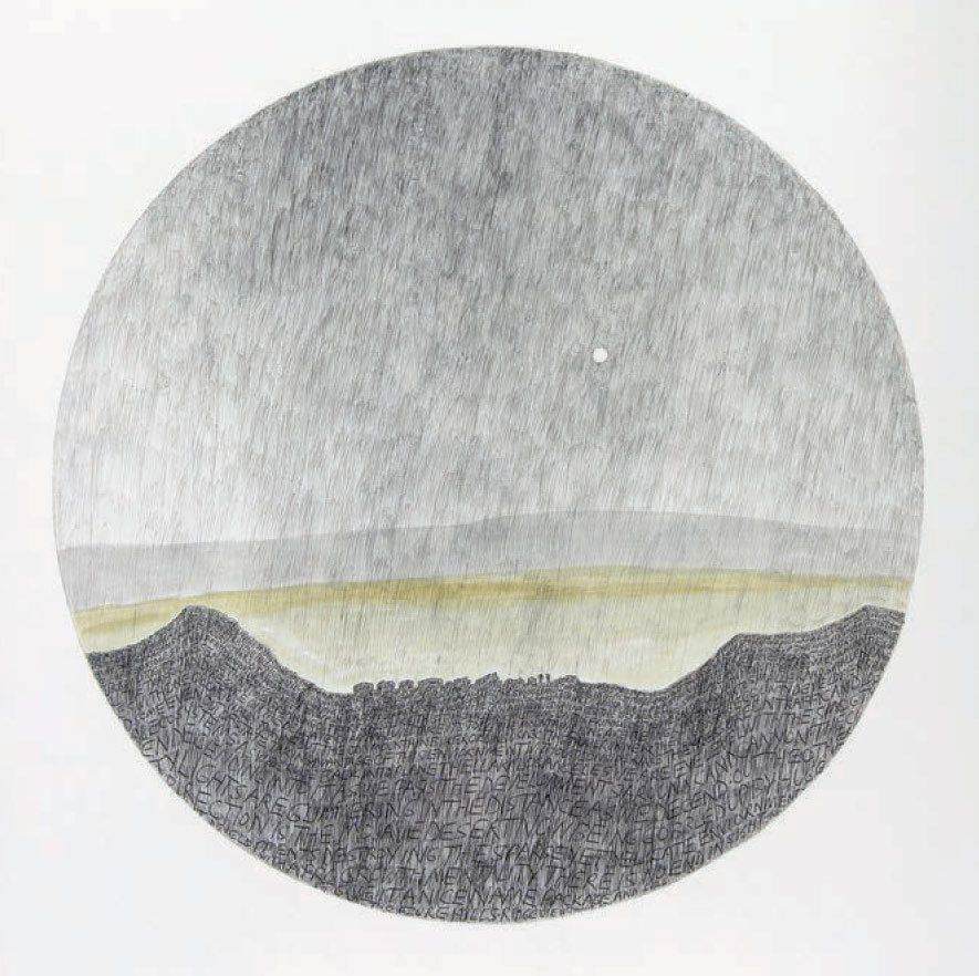 "<strong>Russell Crotty</strong>, ""Venus Above Smogline in the Azure Hills,"" 2006, Ballpoint pen and watercolor on paper"