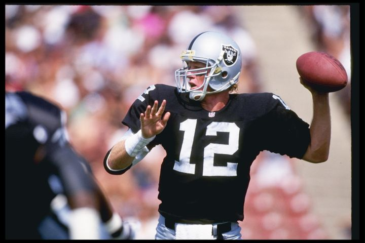 Marinovich, pictured here during a 1992 game, had an NFL career cut short by drug use.