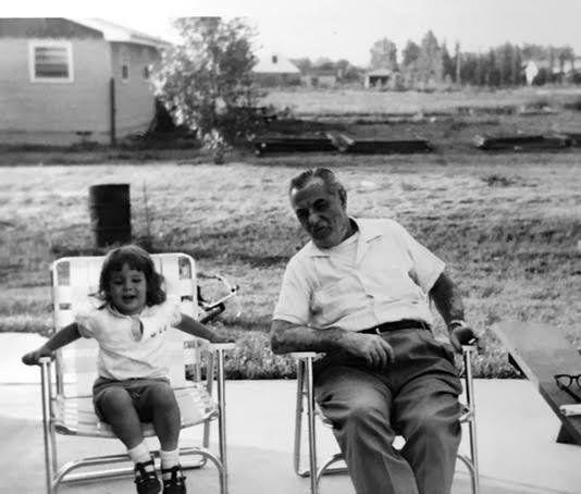 Barb Rosenstock and her grandpa, Stanley Cywinski.
