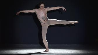 MILAN, ITALY - JANUARY 15:  Sergei Polunin performs during the Ports 1961 show during Milan Men's Fashion Week Fall/Winter 2016/17 on January 15, 2016 in Milan, Italy.  (Photo by Jacopo Raule/Getty Images)