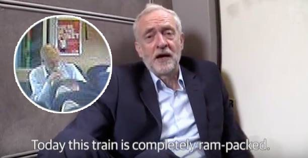 Jeremy Corbyn's Train Floor Video Stunt Has Been Exposed And Twitter Can't Handle