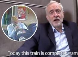 Jeremy Corbyn's Train Floor Video Stunt Has Been Exposed And Twitter Can't Handle It