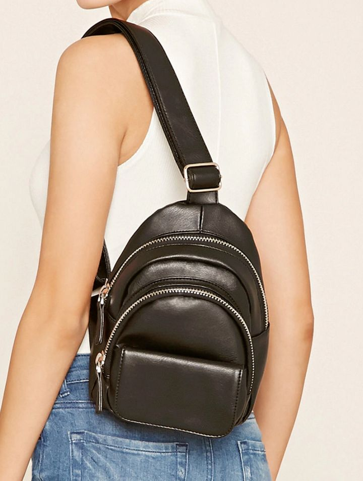 Forever 21 Faux Leather Sling Backpack ($27.90)