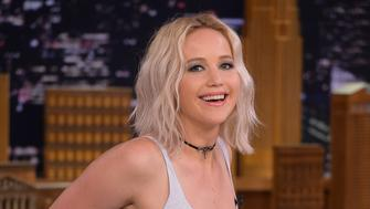 NEW YORK, NY - MAY 23:  Jennifer Lawrence Visits 'The Tonight Show Starring Jimmy Fallon' on May 23, 2016 in New York City.  (Photo by Theo Wargo/Getty Images)
