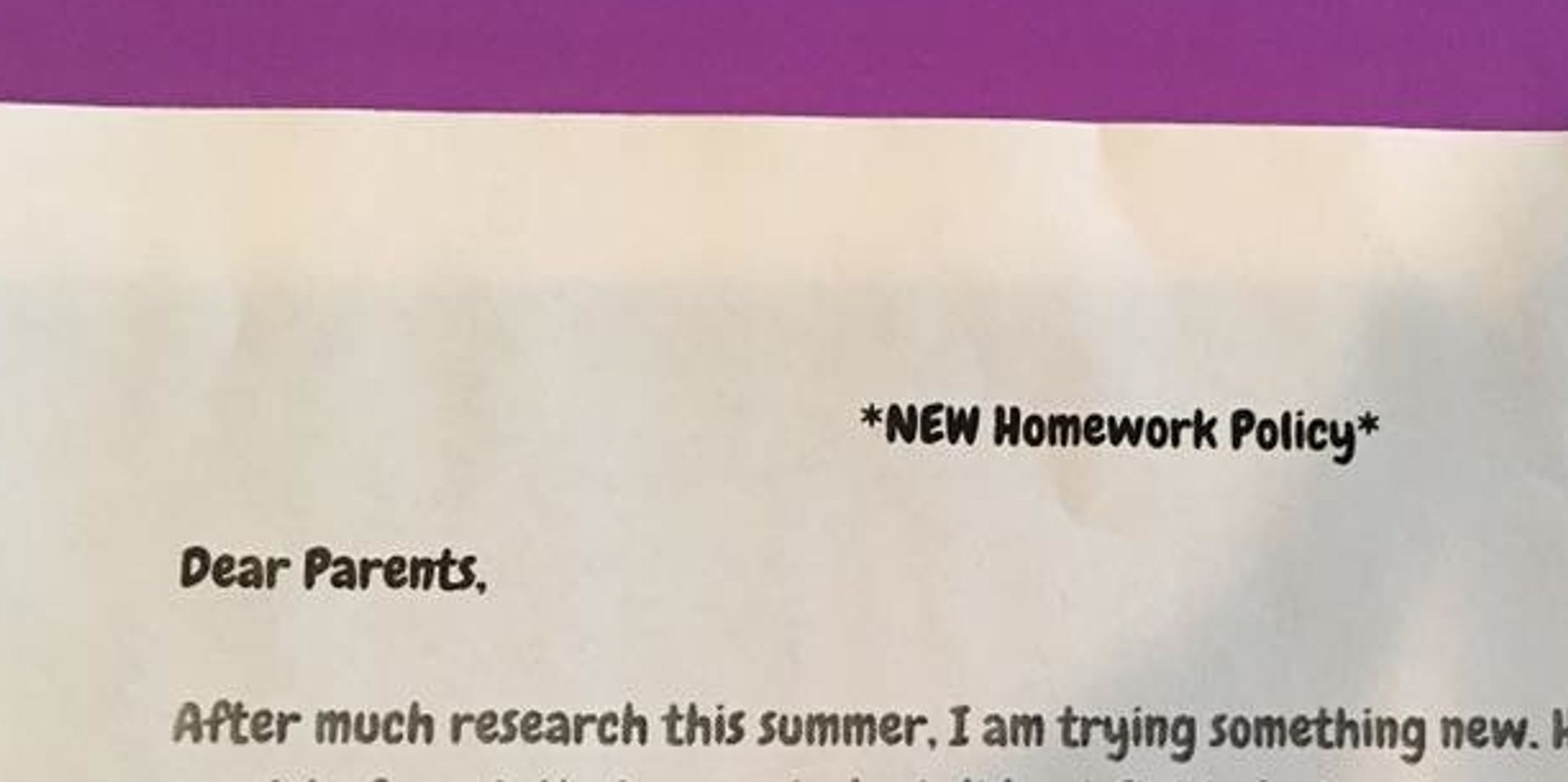 should the homework policy be changed Homework: some is good, more is not better homework should fit into a child's developmental capacity to bring some homework and the policy to a parent.