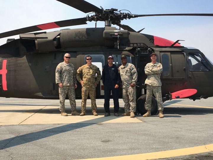 Co-Pilot Jeff Morreale, Medic Greg Proell, MHEM Alex Lujan, Crew Chief Julian Ross, PC Scott St. Aubin