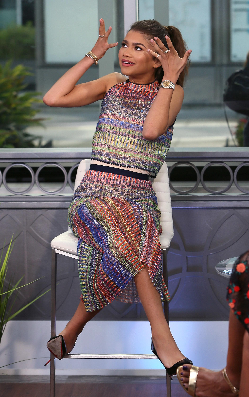 HOLLYWOOD, CA - JULY 29:  Actress Zendaya visits Hollywood Today Live at W Hollywood on July 29, 2016 in Hollywood, California.  (Photo by David Livingston/Getty Images)