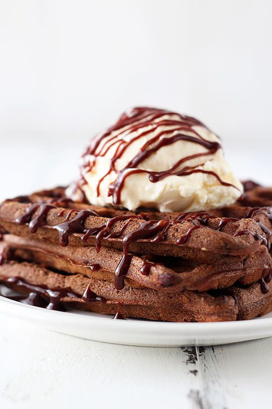 "<strong>Get the <a href=""http://www.handletheheat.com/fudge-waffles/"" target=""_blank"">Fudge Waffles recipe</a> from Hand"