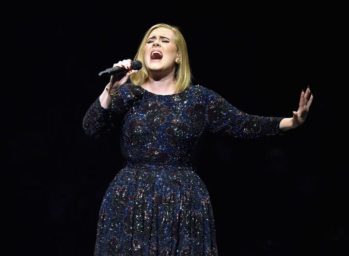Adele at her Los Angeles concert in August.
