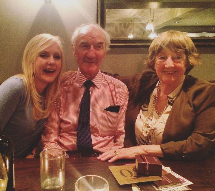 Sara Neary and her grandparents.