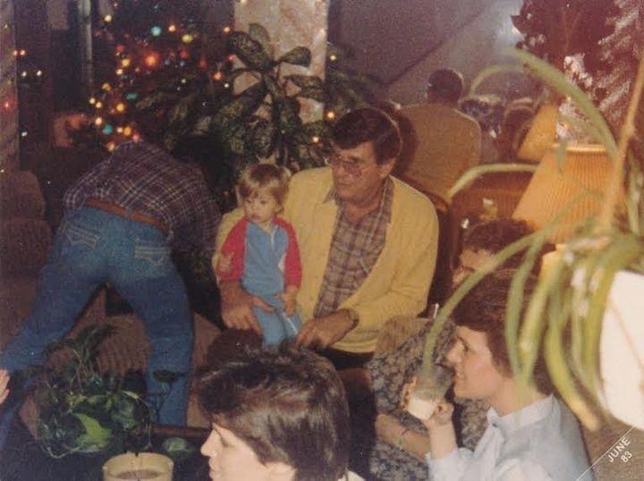 Erika McKeogh and her grandfather.