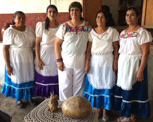"Chef Maru Toledo and her ""<a href=""http://www.marutoledo.com"" target=""_blank"">Mujeres del Maiz</a>"" (Women of the Corn) prepa"