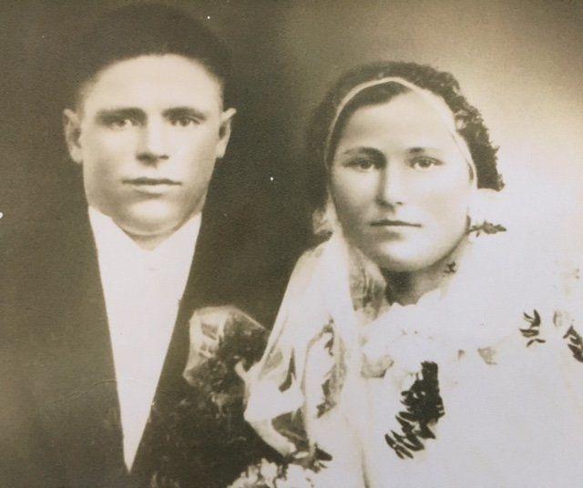 Jekabs and Ilze Pukulis in Latvia on March 28, 1937.