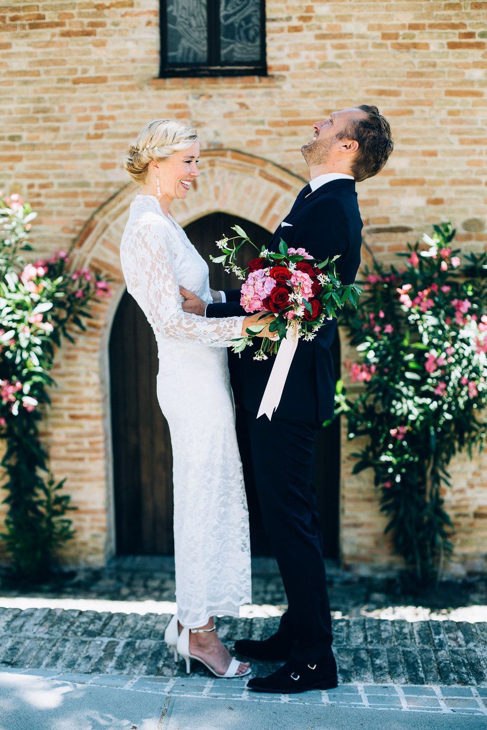 """""""Our first wedding was on September 7, 2007. We got married in the Netherlands, which is where we live. It was a small weddin"""