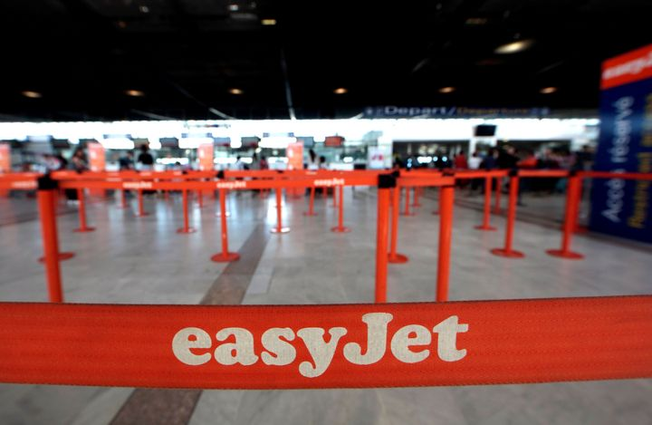 EasyJet counters are seen at Nice Cote D'Azur international airport Terminal 2 in Nice, France, May 4, 2016