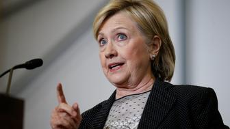 U.S. Democratic presidential nominee Hillary Clinton speaks at Futuramic Tool & Engineering in Warren, Michigan August 11, 2016. REUTERS/Chris Keane