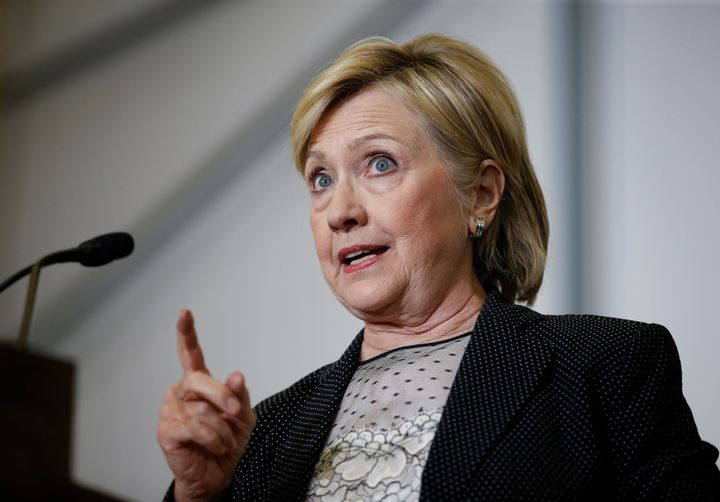 U.S. Democratic presidential nominee Hillary Clinton speaks at Futuramic Tool & Engineering in Warren, Michigan August 11