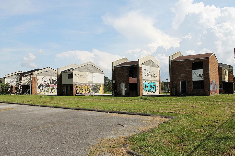 In the years since Hurricane Katrina, the New Orleans Housing Authority has demolished 154 of the townhouse units in Press Pa
