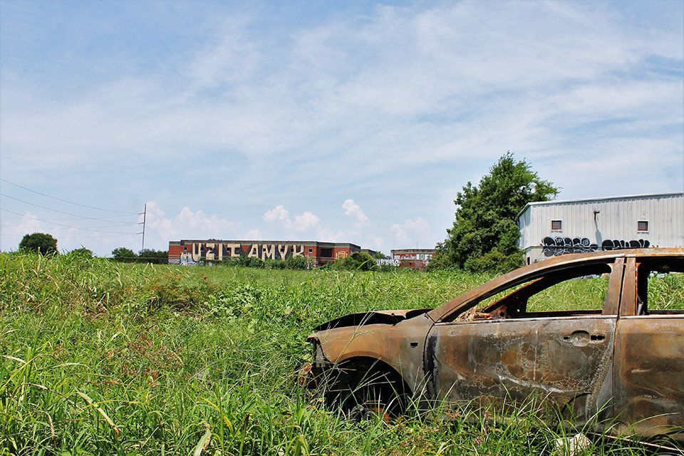 Contributing to the blight are burned out vehicles, which can be found scattered throughout the 9th Ward.