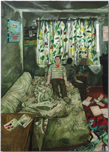 """<i>Self Portrait (Benner Street), 2011, Oil on linen, 98"""" x 70""""</i>"""