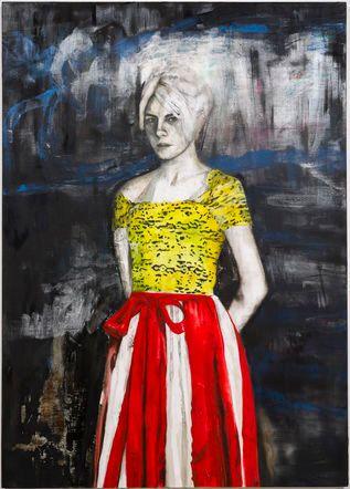 "<i>Portrait of the Poet Dasha Nekrasova</i>, 2015, Oil on canvas, 84"" H x 60"" W"