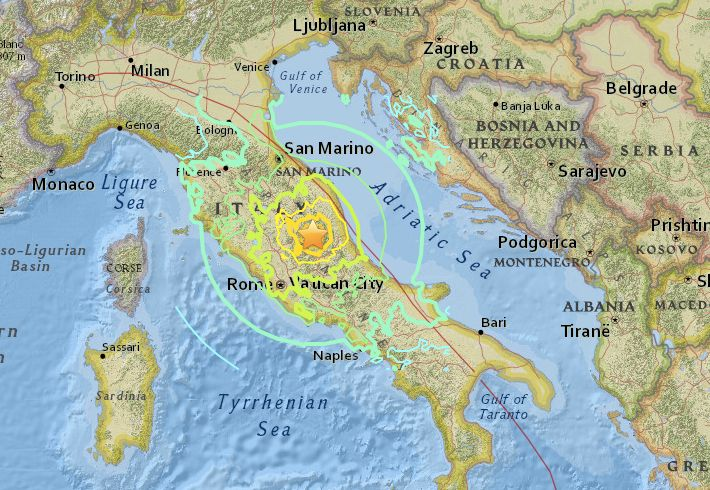Magnitude 6.2 Earthquake Rocks Central