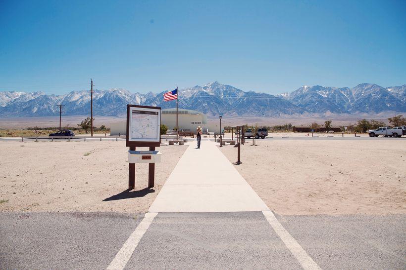 Entrance to Manzanar museum