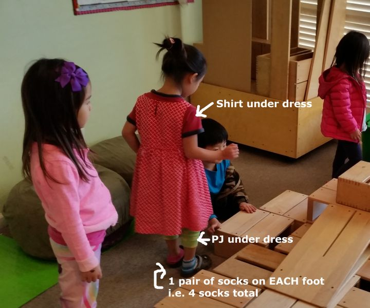 <p>A typical day at preschool</p>
